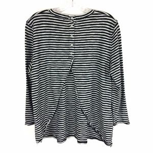 We the Free Stripe Split Back Top